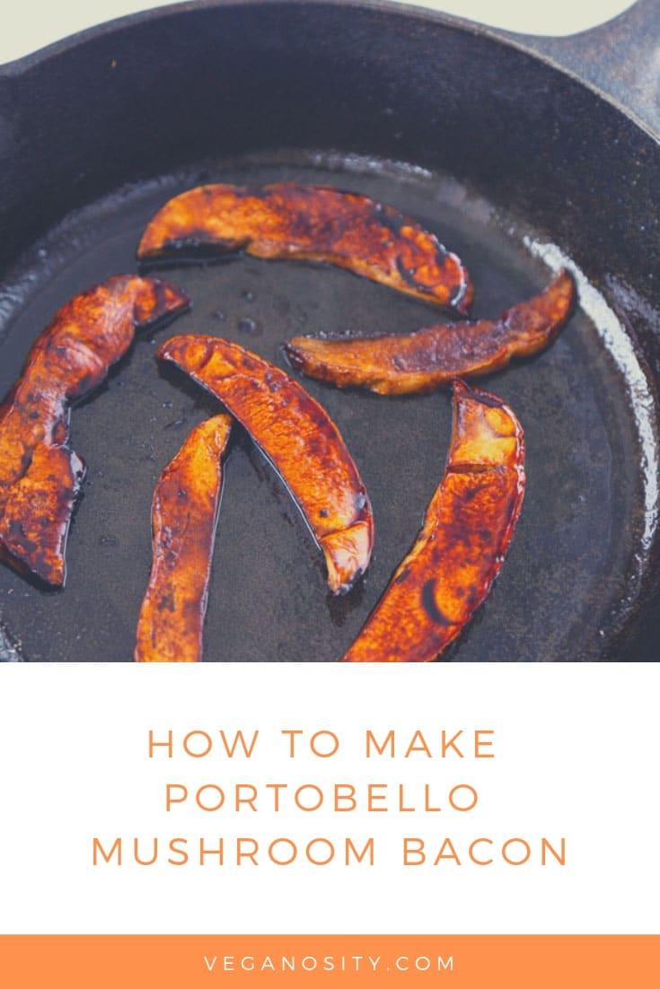 Smoky and delicious Portobello Mushroom Bacon!! #veganbacon #mushroombacon