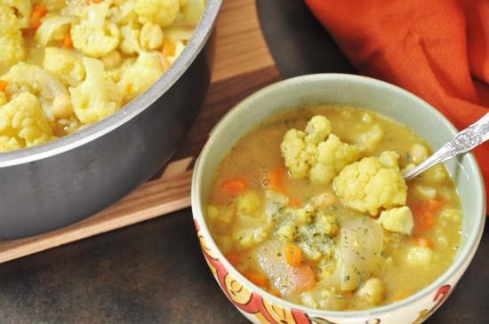 Indian Spice Cauliflower Soup