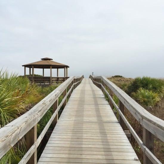 Bridge to the beach on Tybee Island, GA