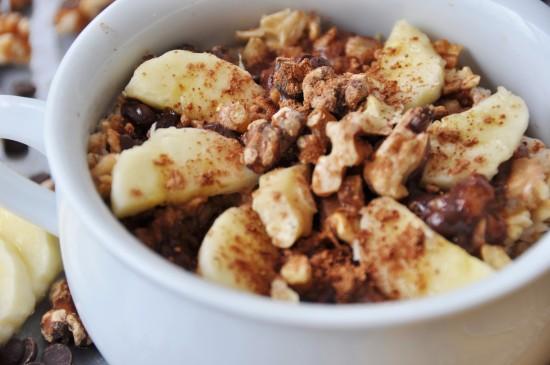 Vegan Chocolate Banana Bread Oatmeal