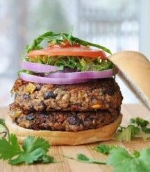 Vegan Spicy Black Bean Quinoa Burgers