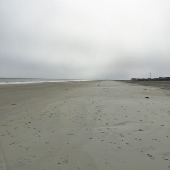 The beach at Tybee Island, GA