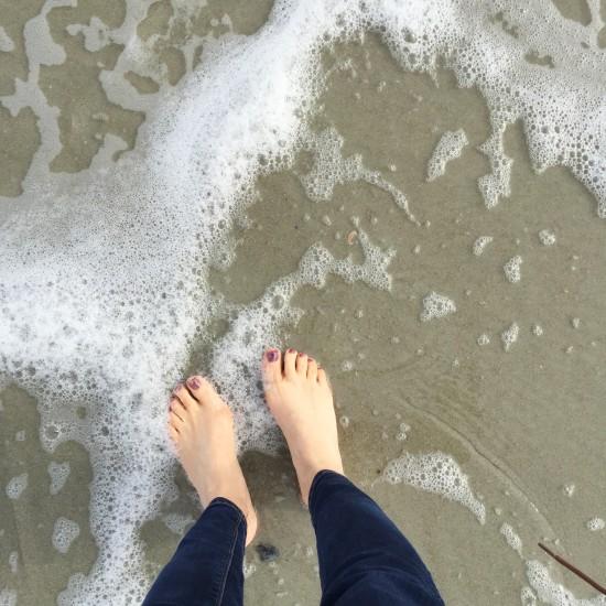 Dipping my toes in the Atlantic Ocean