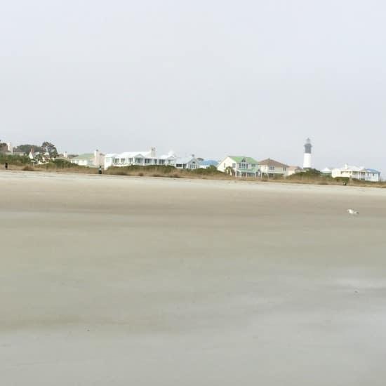 Beach houses on Tybee Island, GA