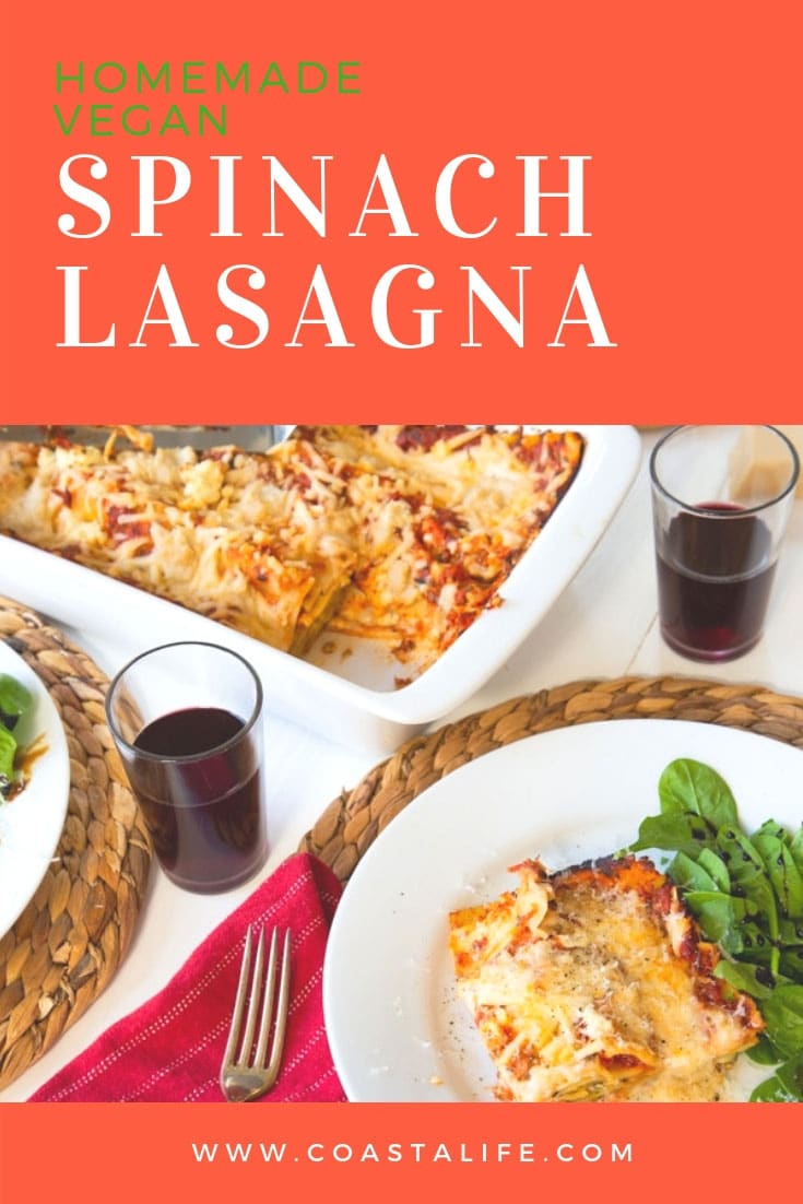 You'll never guess that this easy homemade lasagna is vegan! #vegan #dinner #lasagna