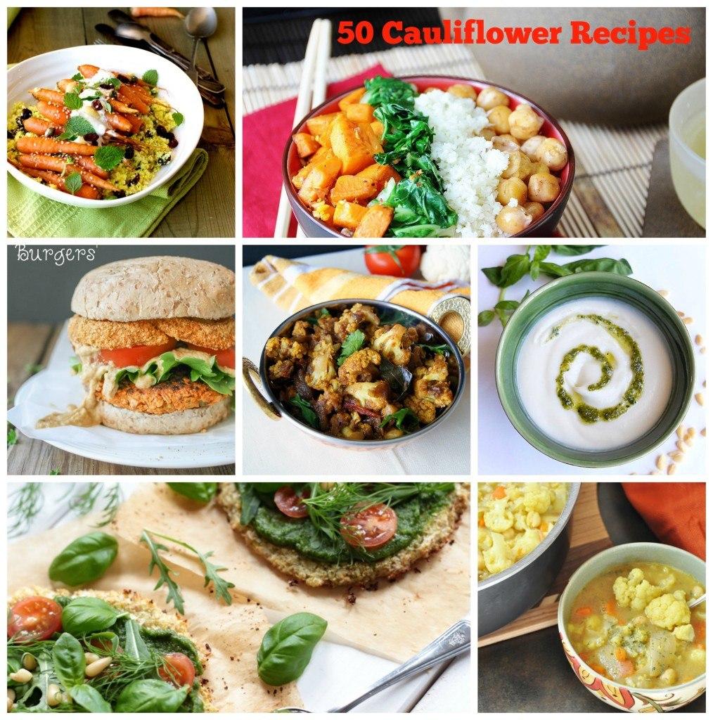 cauliflower collage