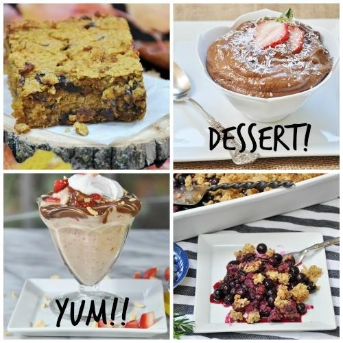 Meatless Monday Dessert Collage