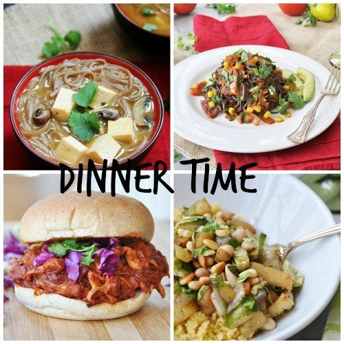 Meatless Monday Dinner Collage