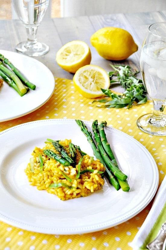 lemon and asparagus risotto 6