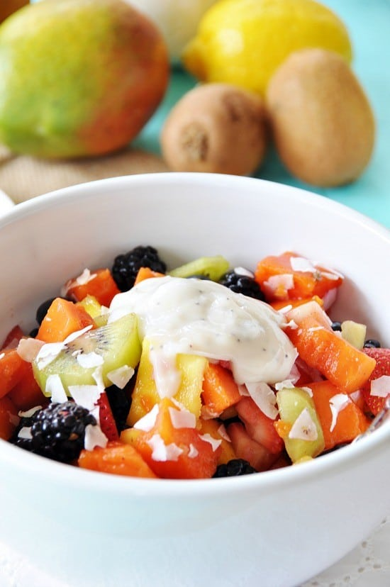 Healthy Vegan Ambrosia Fruit Salad