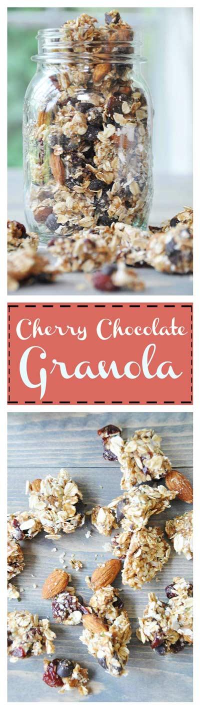 No Bake Cherry Chocolate Granola