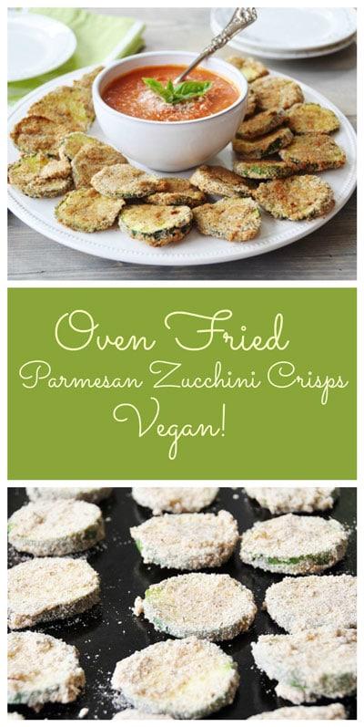 Vegan Oven Fried Parmesan Zucchini Crisps
