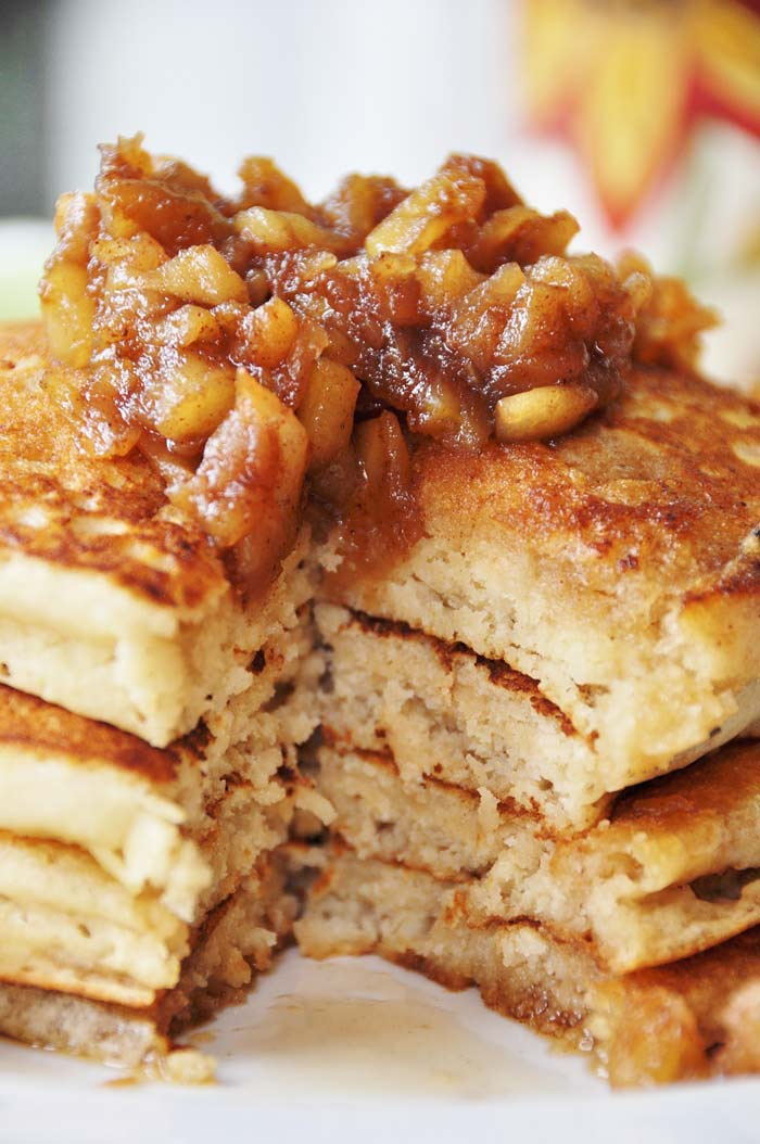 Old-Fashioned-Pancakes-with-Cinnamon-Apples---Vegan