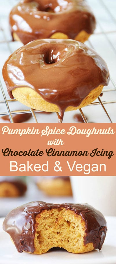 Pumpkin-Spice-Doughnuts-with-Chocolate-Cinnamon-Icing--Collage