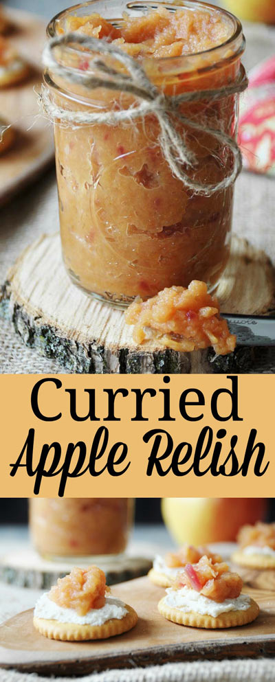 Curried Apple Relish. This slightly sweet and very savory relish recipe is vegan and gluten-free. It's so delicious on vegan cheese and crackers, or in a sandwich, salad, or on top of your favorite lentil loaf. This is definitely a CROWD FAVORITE! www.veganosity.com