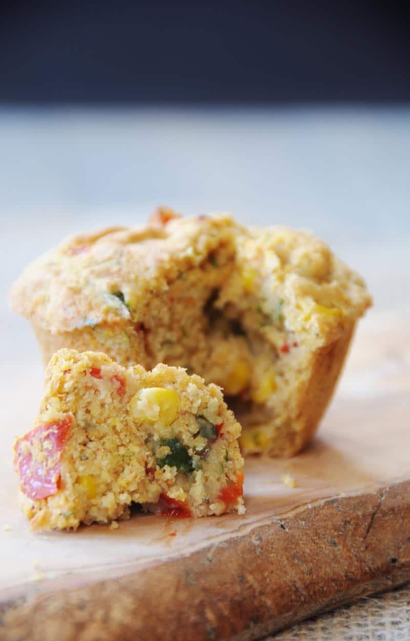 Savory-Vegan-Corn-and-Pepper-Breakfast-Muffins