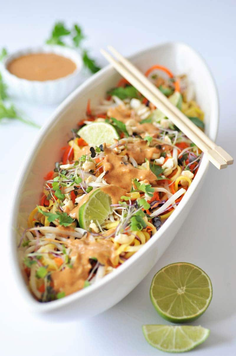 Raw-Super--Sprouts Pad-Thai-with-Spicy-Peanut-Sauce