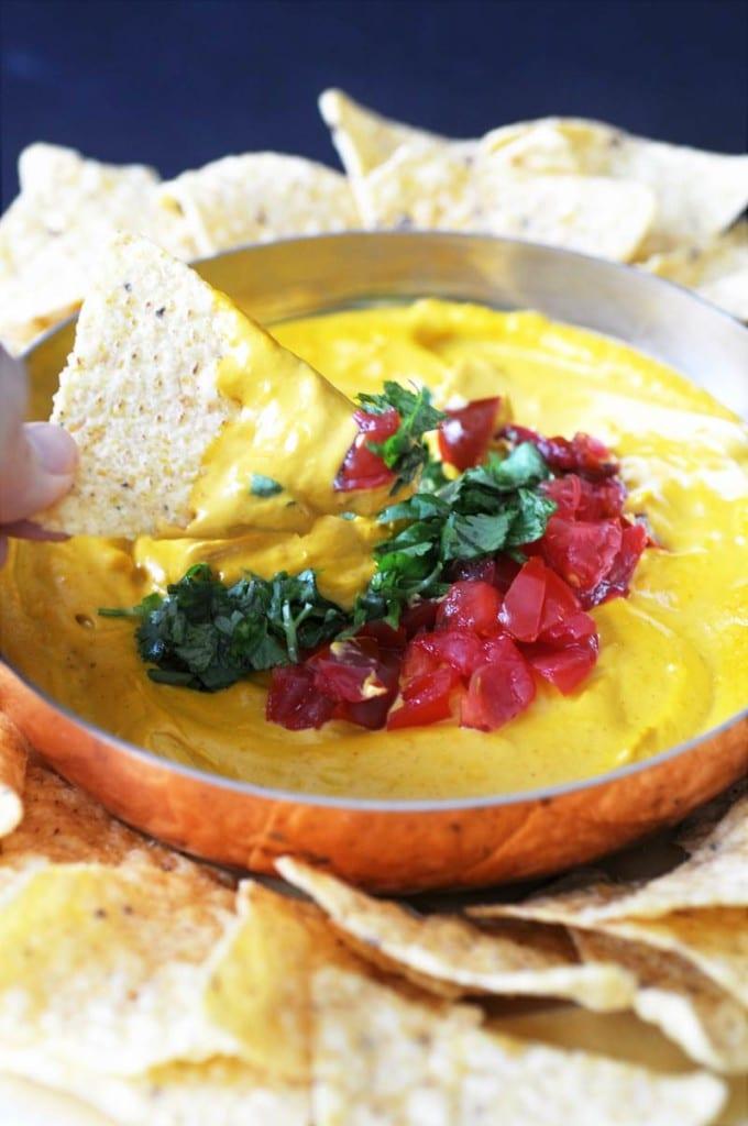Zero Cholesterol Vegan Queso Fundido