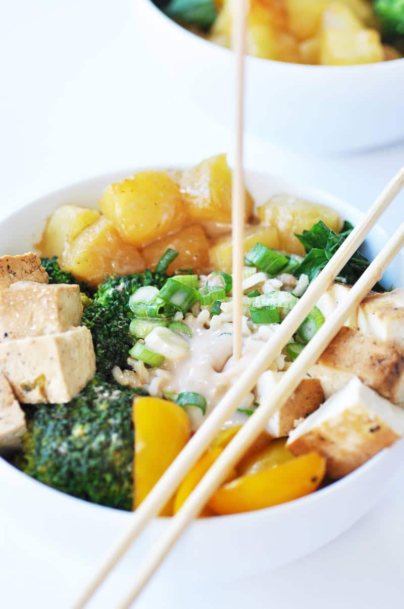 Sweet & Spicy Asian Brown Rice and Pineapple Bowl