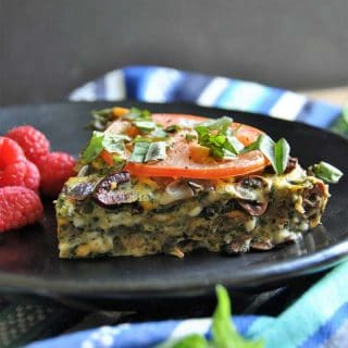 A healthy and simple to make vegan vegetable and herb frittata! The perfect brunch food.