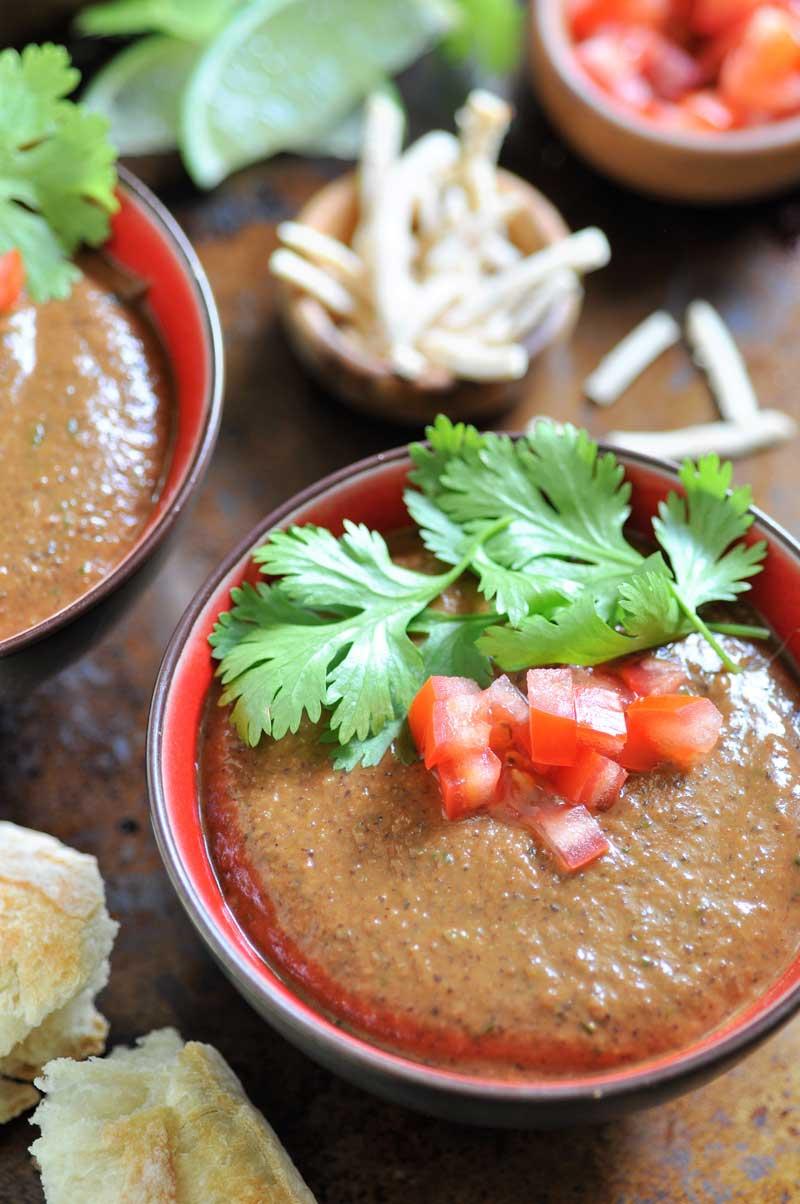 Simple and quick Cuban black bean soup. It's vegan!