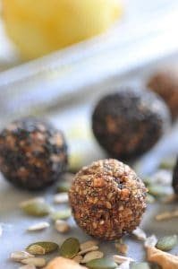 Healthy, easy, and raw Apple Cinnamon Energy Bites! Filled with whole foods.