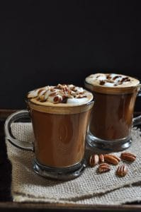 Make your own Starbucks Maple Pecan Latte at home. It's easy and vegan!