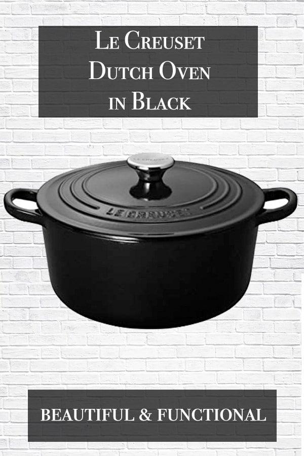 le creuset dutch oven image in black