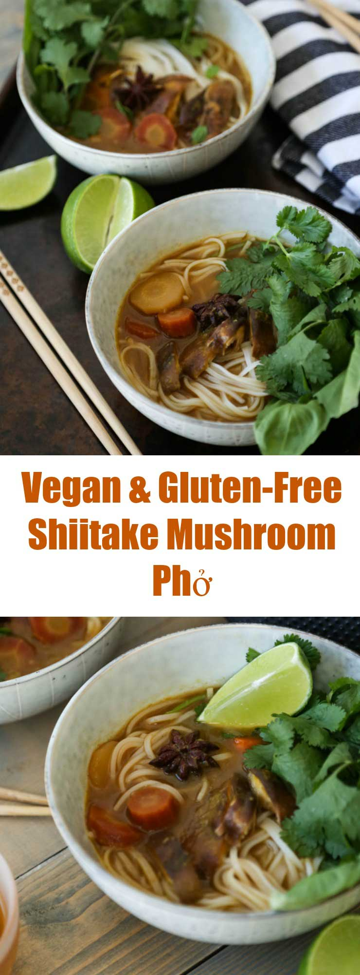 Warm and savory broth makes this authentic Pho so delicious. Vegan and gluten-free!