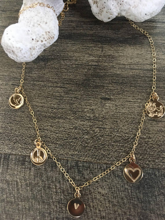 Aloha Sol Gold Vegan Charm Necklace
