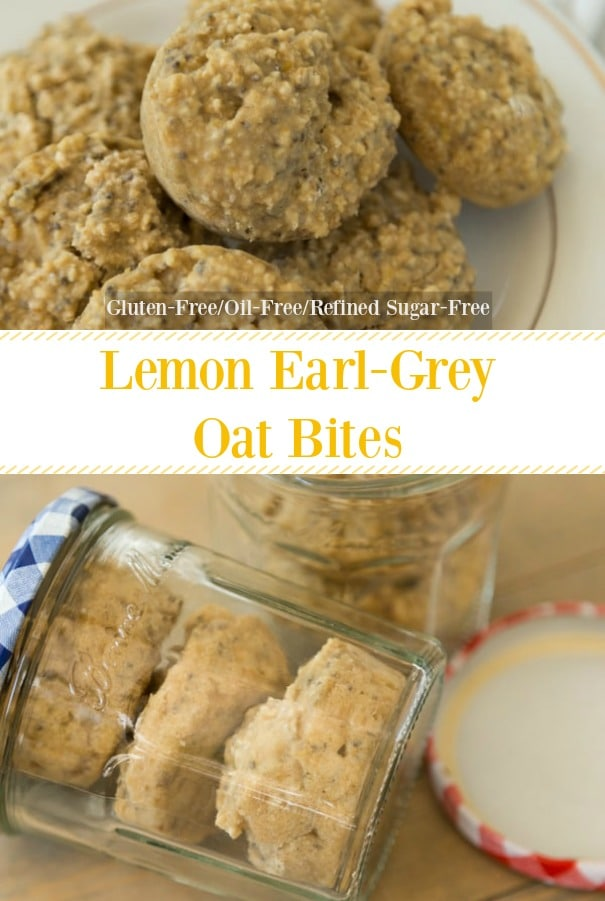 Healthy, easy and delicious Lemon Earl-Grey Oat Bites. The perfect breakfast on the go. #vegan #gluten-free #muffin