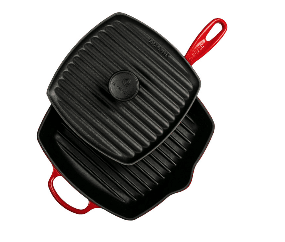 Le Creuset Grill Pan in red