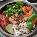 Chilled Smoked Tofu & Sesame Rice Noodle Salad