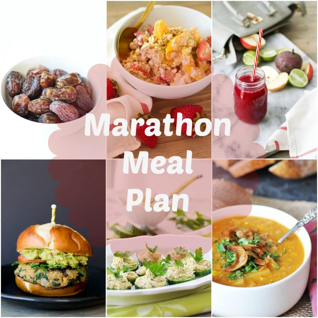 A day of healthy and delicious fueling vegan foods for marathon runners and athletes of all kinds. #vegan #mealplan #athletes