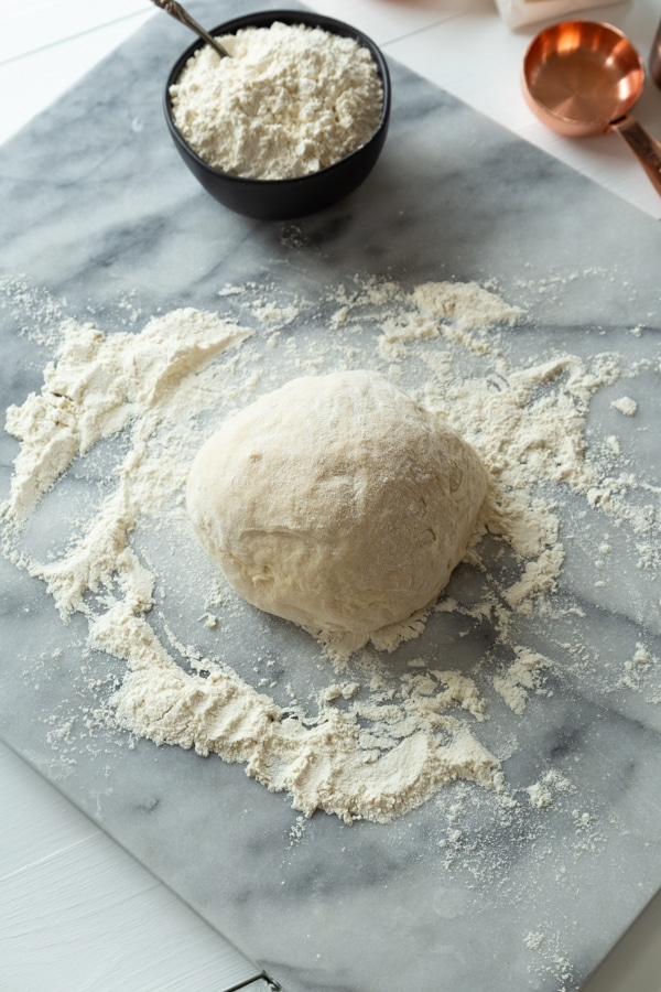 Croissant dough rolled into a dough