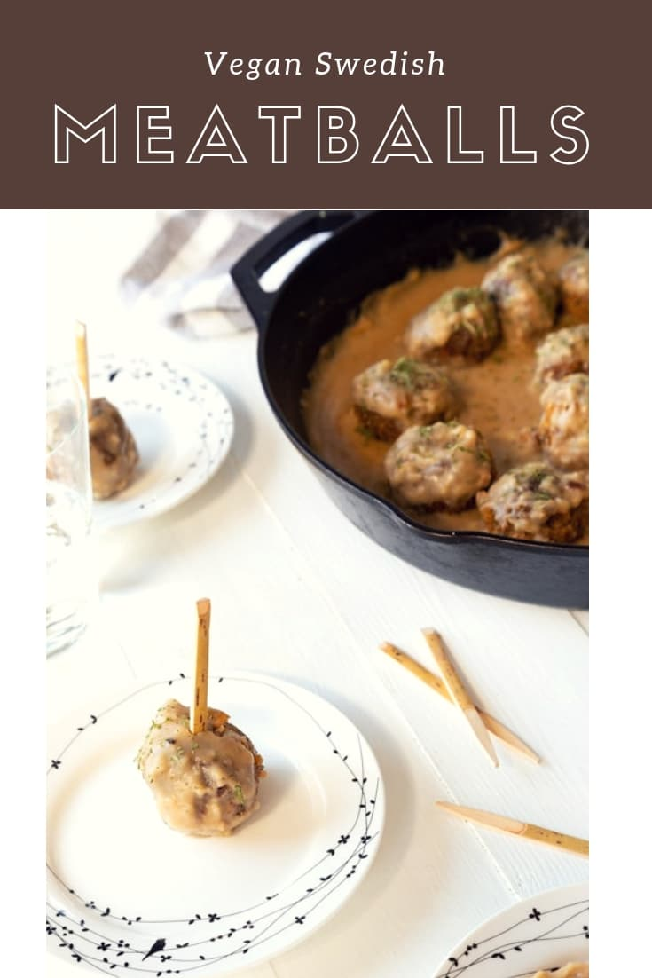 Our Vegan Swedish Meatball recipe is so meaty and delicious! You'll never know that they're vegan. #veganmeatballs #swedishmeatballs #veganappetizers