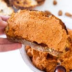 Rustic Almond and Roasted Red Pepper Pate - Vegan Recipe