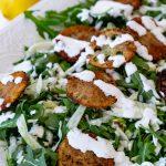 Arugula and Fennel Salad with Fried Lemons