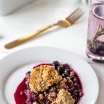 Easy Vegan Blueberry & Rosemary Crisp