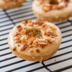 Vegan Maple Glazed Doughnuts with Coconut Bacon