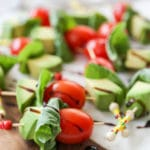 Avocado Caprese Skewers