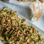Warm Couscous & Brussels Sprouts Salad