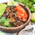 Easy Veggie Loaded Black Beans and Rice