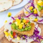 Crispy Beer Battered Vegan Fish Tacos
